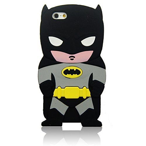 iPhone 6 Case iPhone 6S Silicone Case,Emily Fashion Super Cute 3D Cartoon Character Fair And Brave Bat Hero Protective Silicone Back Case Cover for iPhone 6/6S 4.7 (Cartoons Characters)
