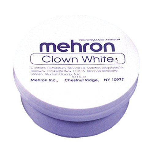Maquillaje En Crema Color Blanco Para Pintura Facial Y Corporal - Uso Con Disfraces - Envase De 7 Onzas]()