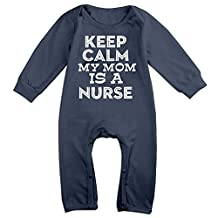 Unisex-baby Keep Calm My Mom Is A Nurse Long Sleeve Jumpsuits Outfit Clothes