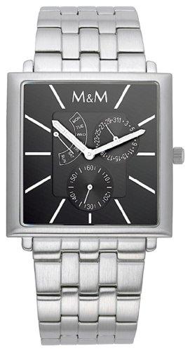 M&M Men's Watch Unlimited Multifunction Dial Color Black