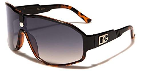 Oversized DG Vintage Shield Aviator - Sunglasses Vintage Dg