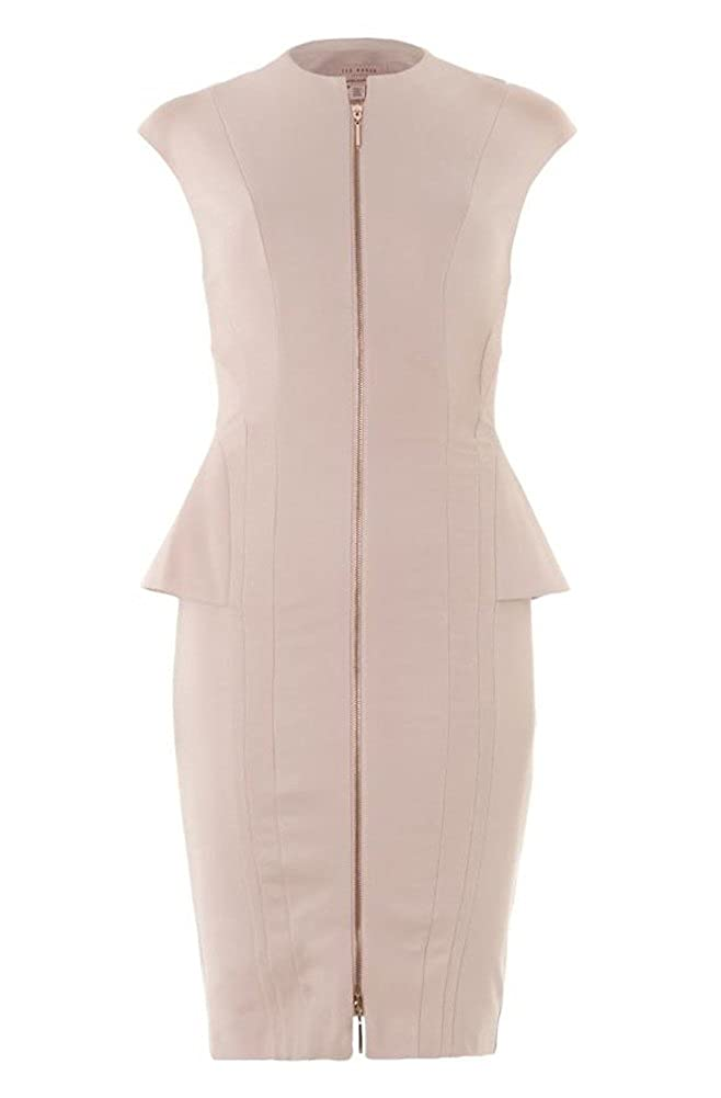 Ted Baker luz rosa cremallera vestido rosa rosa claro 40: Amazon ...