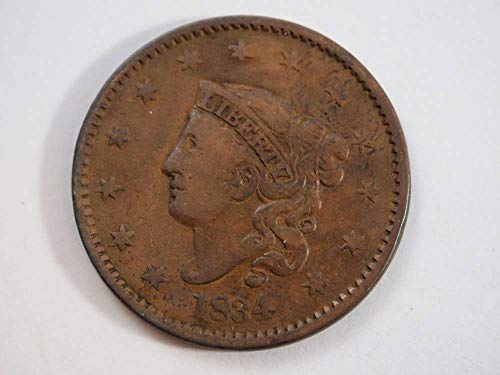 1834 P Coronet Large Cent Large Cents Ungraded