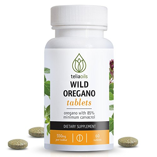 Teliaoils Organic Wild Oregano tablets from oregano with Over 85% carvacrol. Top quality. Ideal to boost the immune system. Excellent antibacterial, antimicrobial & antiviral. Powerful antioxidant