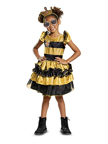 Disguise Queen Bee Deluxe Child Costume, Yellow, -