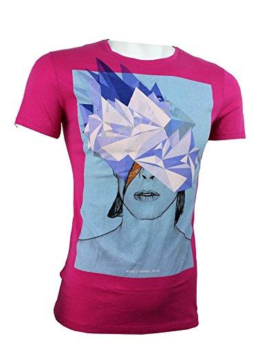 Antony Morato Herren T-Shirt rosa fuchsia 48