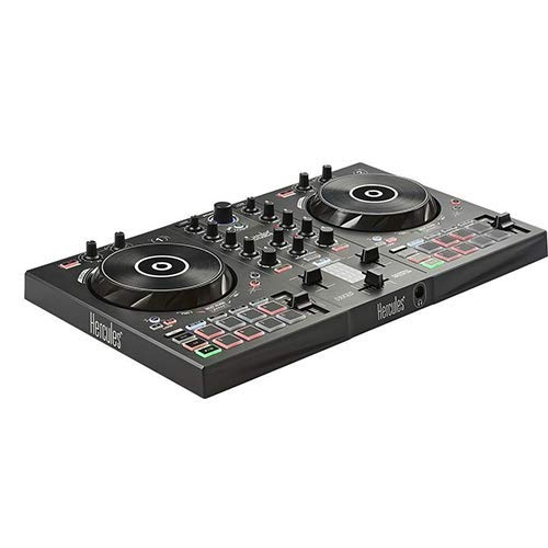 Hercules DJ 2 Control Inpulse 300, Black with 8″ Stereo Mini to Dual RCA Y-Cable (6′) Bundle