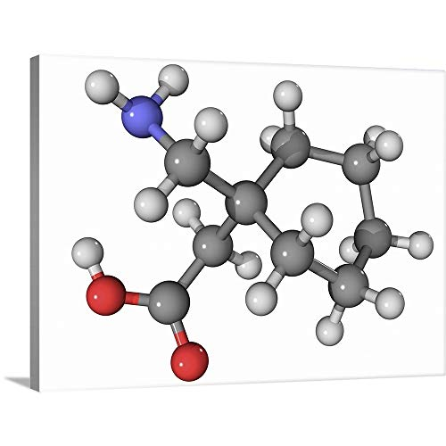 GREATBIGCANVAS Gallery-Wrapped Canvas Entitled Gabapentin Drug Molecule by 40