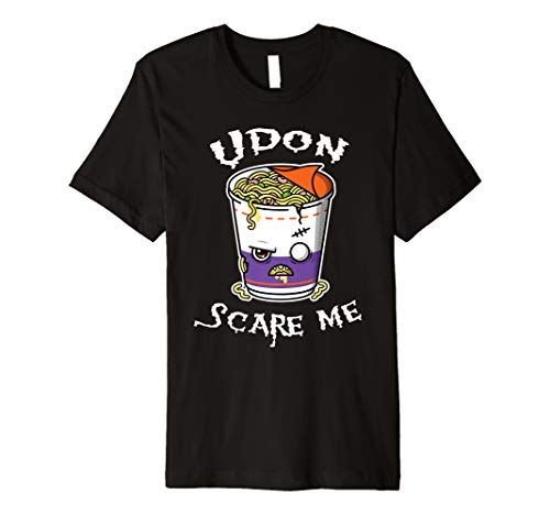 Noodle Zombie Udon Scare Me Pun Halloween Asian food Costume Premium T-Shirt