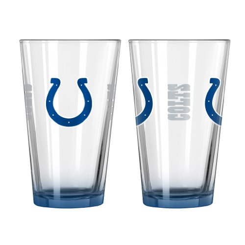 NFL Indianapolis Colts Elite Pint Glass, 16-ounce, - Colt Glasses