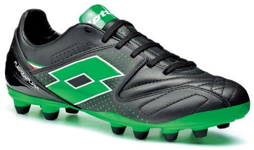 Lotto Sport FUERZAPURA IV 300 FG - Zapatos de fútbol de goma hombre black/ metal neon green