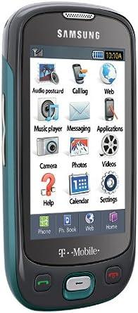 Amazon Com Samsung Highlight T749 Phone Ice Blue T Mobile