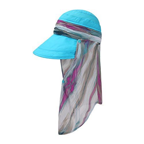 966ff412311 ICOLOR UPF 50+ Quick Drying Sun Hat Cap with Removable Neck Flap ...
