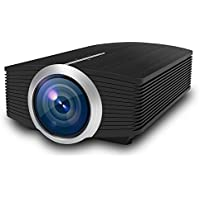 Looein Home Theater Projector,Support 1080P Big Screen 1600 Lumen Mini Portable Video Home cinema Movie Projector With Built-in stereo speaker connect by/HDMI/VGA/USB/AV For Home Cinema TV Laptop Game