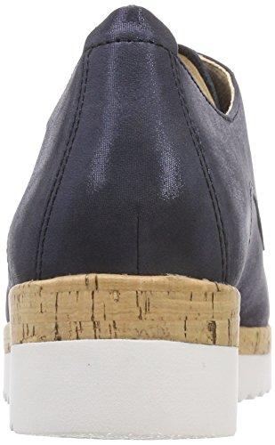 Derby Mujer Cordones Comfort Shoes Kork de Zapatos Azul Ocean Gabor Sport para 8YFqwAS