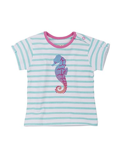 Hatley Baby Girls' Striped Graphic Tee, Seahorses, 6-9M