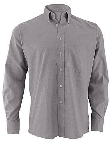 Edwards Garment Men's Easy Care Long Sleeve Oxford Shirt, BLACK, X-Large 37 - Edwards Button Down Oxford Shirt