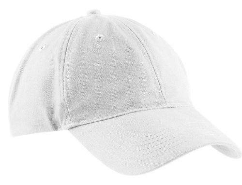 Port & Company Men's Brushed Twill Low Profile Cap OSFA White ()