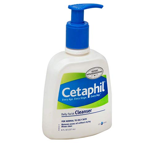 - Cetaphil Daily Facial Cleanser, Normal to Oily Skin - 8 fl oz (Pack of 2)
