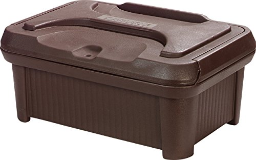 Carlisle XT180001 Cateraide Slide N Seal Polyethylene Top Loader Pan Carrier, 8'' Height, Brown by Carlisle