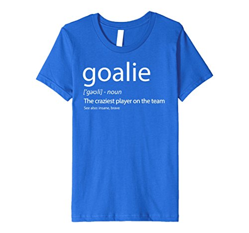 Kids Goalkeeper Shirt Goalie Definition Tshirt Ice Hockey Soccer 10 Royal (Graphic Goalkeeping Jersey)