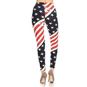 - 417aKm7o1RL - Leggings Depot Women's Ultra Soft Printed Fashion Leggings BAT27