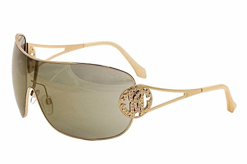 Roberto Cavalli Women's Menkar 891S 891/S 28G Gold Shield - Women Shield S Sunglasses