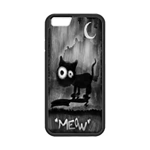 Tt-shop Custom Black Cat MEOW Moon Pattern For iPhone6 4.7