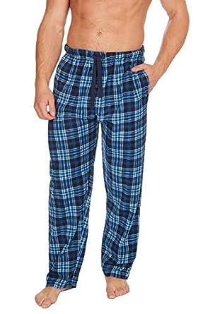65ec33ef918b Hommes à Carreaux Polaire vêtement de détente Pyjama Pantalon Pantalon -  Classique Bleu 1 Carreaux