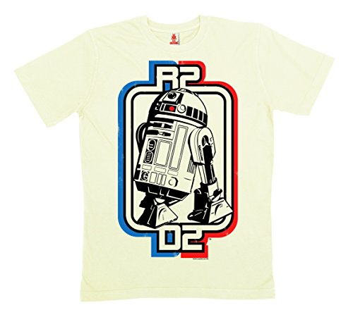 Star Wars - R2-D2 Logotipo Camiseta 100% algodón ecológico (cultivo ecológico) - Blanco - LOGOSHIRT weiß