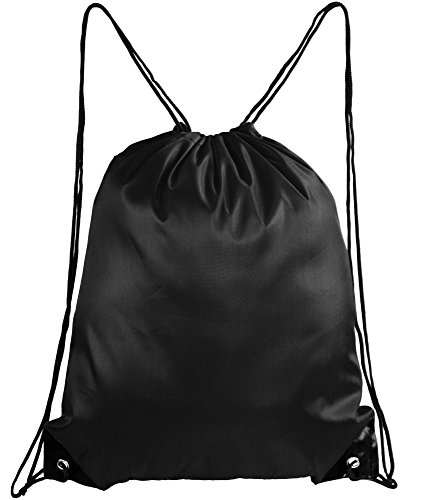 Mato & Hash Basic Drawstring Tote Cinch Sack Promotional Backpack Bag 20PK Black