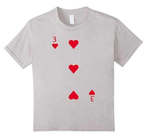 Kids 3 of Hearts Playing Card Matching Halloween Costume T-shirt 10 (Three Matching Halloween Costumes)
