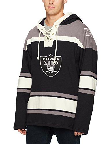 Raiders Pullover Oakland - NFL Oakland Raiders Men's Ots Lacer Pullover Hood, Small, Jet Black