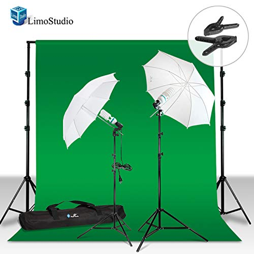 LimoStudio 10 x 12 Photo Chroma Key Chroma Key Green Screen Muslin Background ()