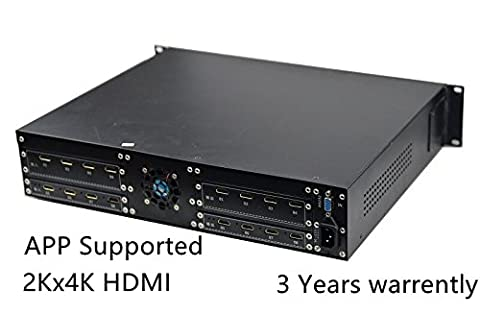 Audio and Video HDMI Matrix Switcher 8x4, 8 input 4 output Blu-ray and 3D RS232 Management (All Purpose Sata Power Supply)