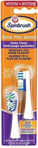 Spinbrush ARM & HAMMER Pro Series Daily Clean Battery Toothbrush Refills - Medium - 3 Pack