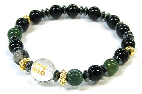 Black Carved Agate Bracelet (Samurai bracelet Sanada Yukimura (japan import))