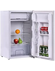 3.2 Cubic Feet Compact Single Reversible Door Mini Refrigerator Cabinet With Internal Freezer Adjustable Temperature Ideal For Use In Dorm Office Or Your Mini Bar Leveling Legs Ice Cube Tray included