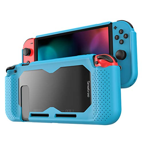 Smatree Hard Protective Case Compatible for Nintendo Switch-Comfort Handheld Back Cover for Nintendo Switch Console (Blue)