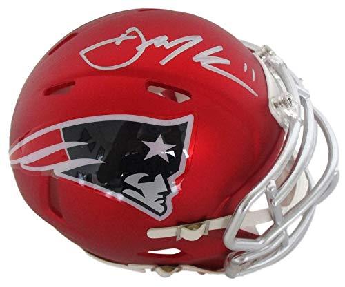 - Julian Edelman New England Patriots Signed Autograph BLAZE Speed Mini Helmet JSA Certified