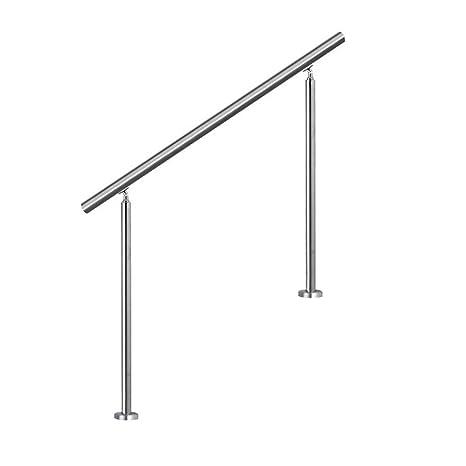 SAILUN 150cm pasamanos barandillas acero inoxidable,para escaleras,barandilla,balcón