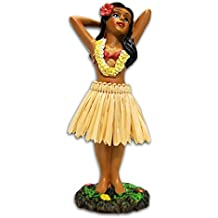 KC Hawaii Hula Girl Posing Mini Dashboard Doll 4.4""