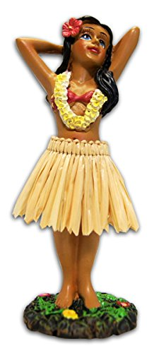 Hula Girl Posing Mini Dashboard Doll 4.4""