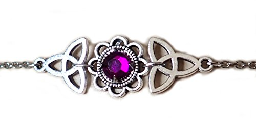 Moon Maiden Jewelry Celtic Triquetra Trinity Knot Headpiece Purple ()