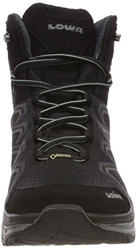 Lowa Ferrox Evo GTX Mid, Stivali da Escursionismo Alti Uomo Multicolore (Nero/Grischiaro 9923)