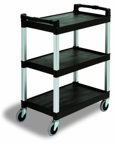 Continental 5810BK, Black Three Shelf Bussing and Utility Cart (Case of 1)