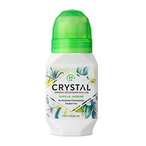Crystal Mineral Deodorant Roll-On, Vanilla Jasmine, 2.25 fl oz