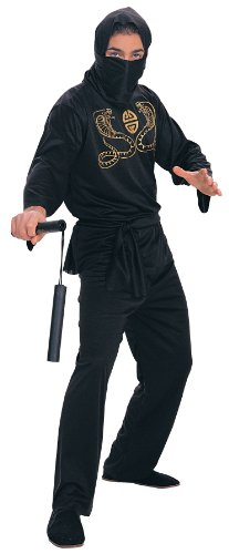 Rubie's Costume Deluxe Adult Ninja Costume, Black, Medium