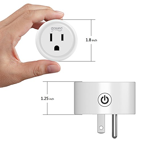 Mini Smart Plug Outlet Compatible with Amazon Alexa Google Home IFTTT,no Hub Required,ETL and FCC listed Wifi enabled Remote Control Smart Socket by Gosund (2 Pack)