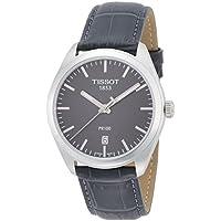 Tissot PR100 Black Dial SS Leather Quartz Men's Watch T1014101644100